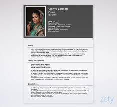 Biodata Format Free Templates For A Job Marriage Free Download