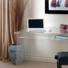 modern acrylic furniture. Modern Acrylic Console Computer Desk With Drawer And Shelf For Small Home Office Spaces Decoration Ideas Furniture A
