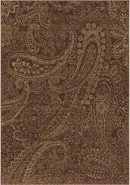 brown paisley leaves petals curls transitional area rug brown fl wool rug