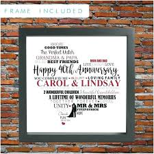 wedding anniversary ideas um size of gift awesome image funny poems 40th 40 year gifts for post 40th anniversary gift
