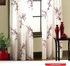 cherry blossom curtains cherry blossom red fl window curtain panel pair ds bedroom decor cherry blossom cherry blossom curtains