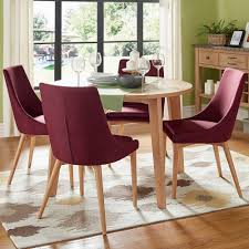 Sasha Oak Angled Leg Round 5-piece Dining Set iNSPIRE Q Modern by iNSPIRE Q