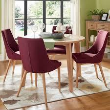 Sasha Oak Angled Leg Round 5-piece Dining Set iNSPIRE Q Modern by iNSPIRE Q
