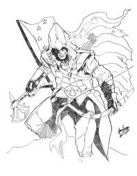 Assassin Creed 3 Coloring Pages To Kids Colored Assassins Creed