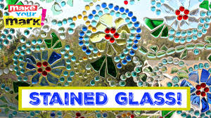 how to easy stained glass window