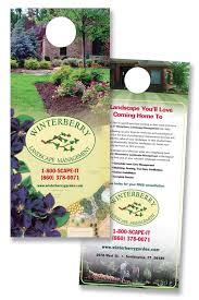 Lawn Care Door Hangers Landscape Design Ideas Backyard