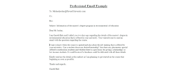 Business Email Writing Example Format 4 Necessary Effective