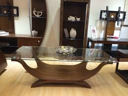 Walnut Furniture Living Room Walnut Veneer Coffee Table With A Clear Safety Glass Top Boat