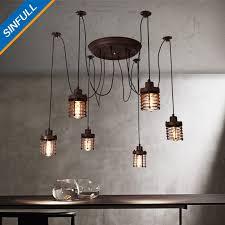 suspension lighting. American Loft Living Room Pendant Lights Retro Bedroom Industrial Suspension Lamp Vintage Adjustable E27 Indoor Lighting SINFULL