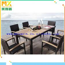 garden glass dining table set outdoor wicker furniture