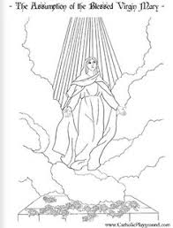 Small Picture Assumption of Mary Coloring page Coloriage Assomption Catholic