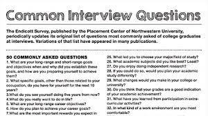 Interview Questions For New Graduates Common Interview Questions