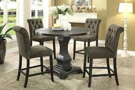 timon traditional style pub table set round pub table pub style table with storage