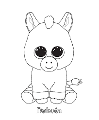 Beanie Boo Colouring Pages Kleurplaat