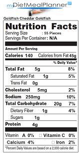 goldfish food label food throughout goldfish food label 20489