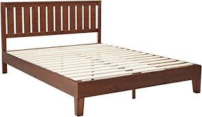 platform bed no box spring. Exellent Box Zinus 12 Inch Deluxe Wood Platform Bed With Headboard  No Box Spring  Needed Slat Support Antique Espresso Finish Queen Throughout 4