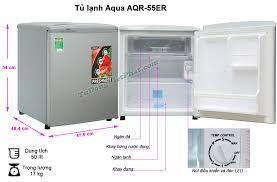 Tủ lạnh mini AQUA 50 Lít AQR-55ER - Chính hãng giá rẻ nhất T10/2020