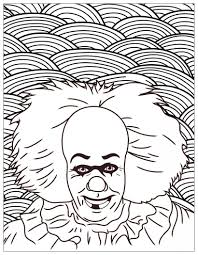 Horror It Clown Pennywise Halloween Adult Coloring Pages