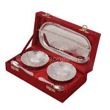 chrome plated gift set silver sindoor dani source return gift ideas for 50th wedding anniversary