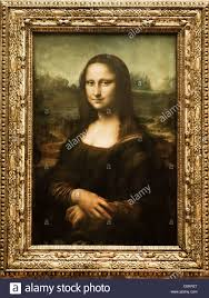 mona lisa painting in a museum musee du louvre paris france