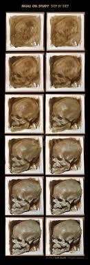 skull oil study iii step by step by jeffstahl