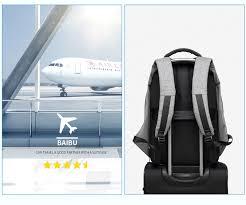 <b>BAIBU Men</b> 17 inch Laptop <b>Anti</b> theft <b>Backpack</b> Water Repellent ...