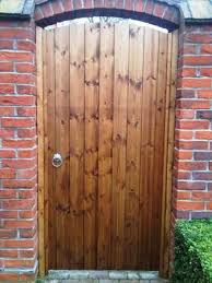wooden gate security