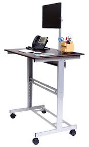 computer desk stand mobile adjule height stand up desk with monitor mount adjule standing computer desk computer desk stand