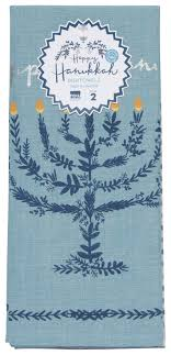 Now Designs Retailer Happy Hanukkah Dishtowels Set Of 2