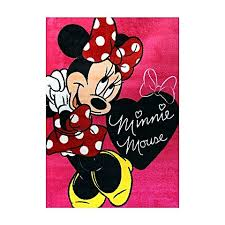 disney minnie mouse bow kids rug