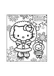Hello Kitty Tussen De Sneeuwsterren Hello Kitty Kleurplaten