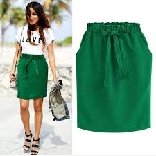 <b>2019 New</b> Spring <b>Summer Elegant</b> Midi Skirts Womens Office Pencil ...