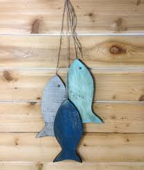stunning wooden fish wall art home decoration ideas rustic painted string of zoom hand carved large