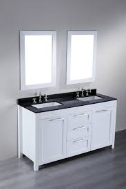 walnut bathroom vanity modern ridge: attractive off white wooden inch double sink vanity added chrome handle pull out drawer as well