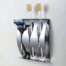 wonderful bathroom accessories wall mounted stainless steel wall mount toothbrush holder 3 position self adhesive tooth