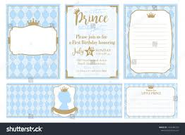 Water Bottles Templates Set Cute Blue Templates Invitations Water Stock Vector