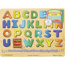 details about melissa doug 340 alphabet sound wooden puzzles