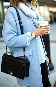 Blue Coat 20 Amazing Outfits That Prove Pastel Blue Coats Are Trending