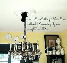 home depot chandelier install how to a ceiling medallion without removing your light fixture installation cost
