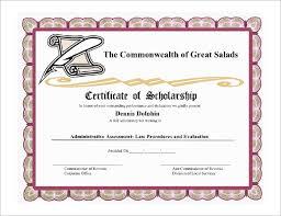 scholarship templates 9 scholarship certificate templates free word pdf format