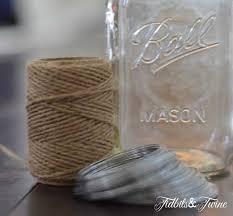 Mason Jars Decorated With Twine DIY Mason Jar Manicure Set Lantern TIDBITSTWINE 88
