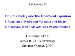 lab lecture 3 stoichiometry and the chemical equation i