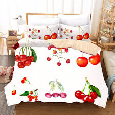Luxury Designer Bedding Sets Us 32 32 31 Off Fruit Cherry Designer Bedding Sets King Queen Size Bedding Set Bed Linen Sheet Duvet Cover Pillowcase Luxury Bedclothes F In Bedding