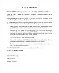 Free Loan Agreement loan agreement between friends template free free loan agreement 11