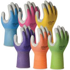 showa atlas 3704c nitrile tough garden glove the best fit for women
