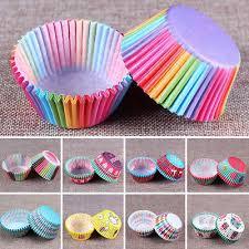 <b>100 PCS Rainbow</b> cupcake liners baking paper cup stadard size ...