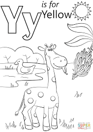 Letter Y Is For Yellow Coloring Page Free Printable Coloring Pages