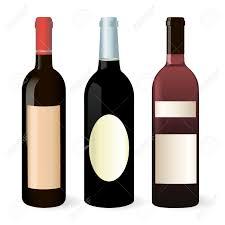 白ワイン ・ ボトルのベクトルを設定 のイラスト素材・ベクタ - . Image 25508667.