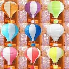 Rainbow Color Paper Lantern Hot Air Balloon Wedding Decoration Childrenu0027s  Bedroom Hanging Birthday Party Decorations Ornament