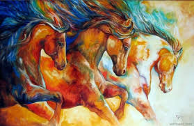 colorful horse paintings horse colorful painting colorful horse head paintings